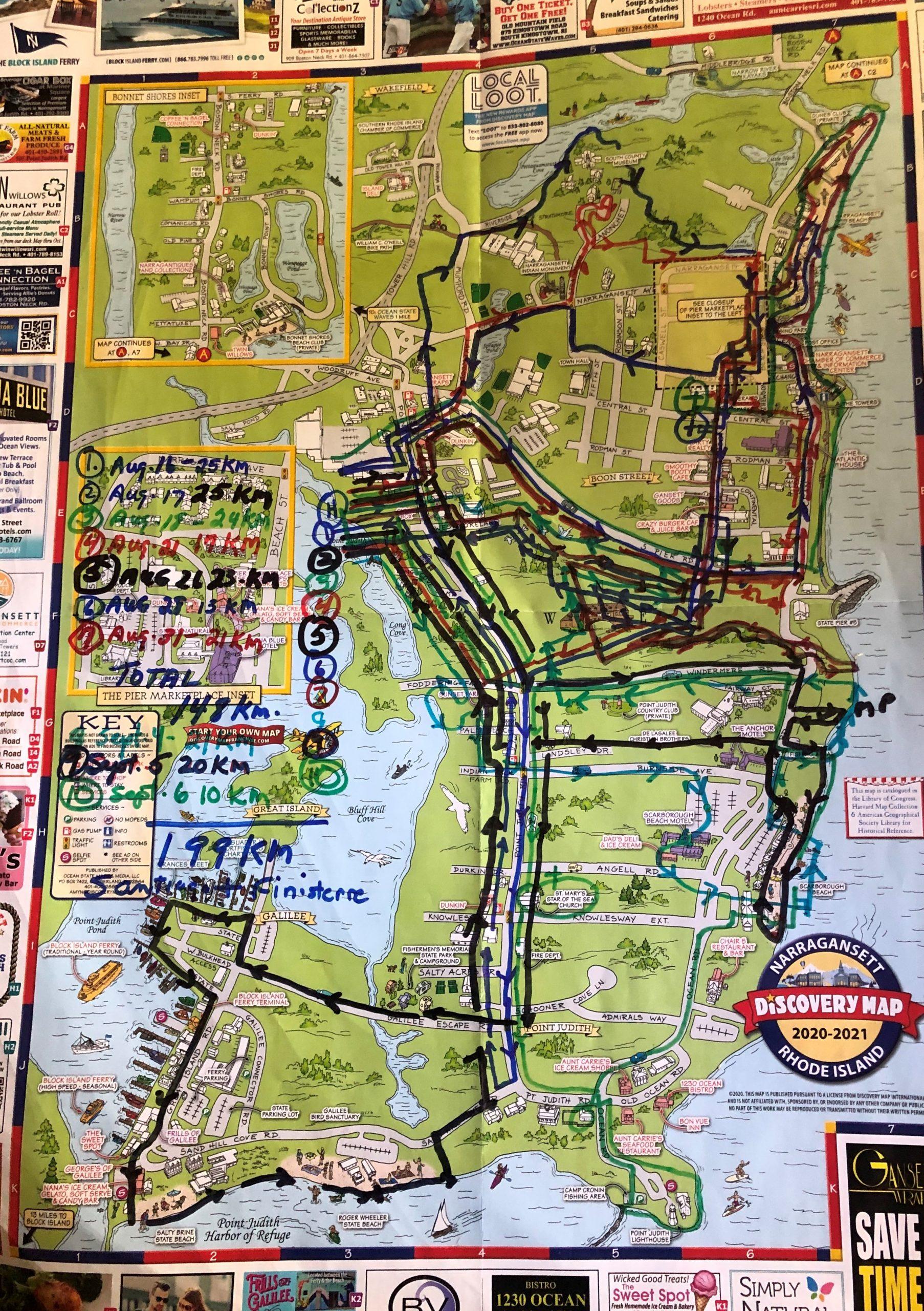 Virtual Camino Map of Narragansette
